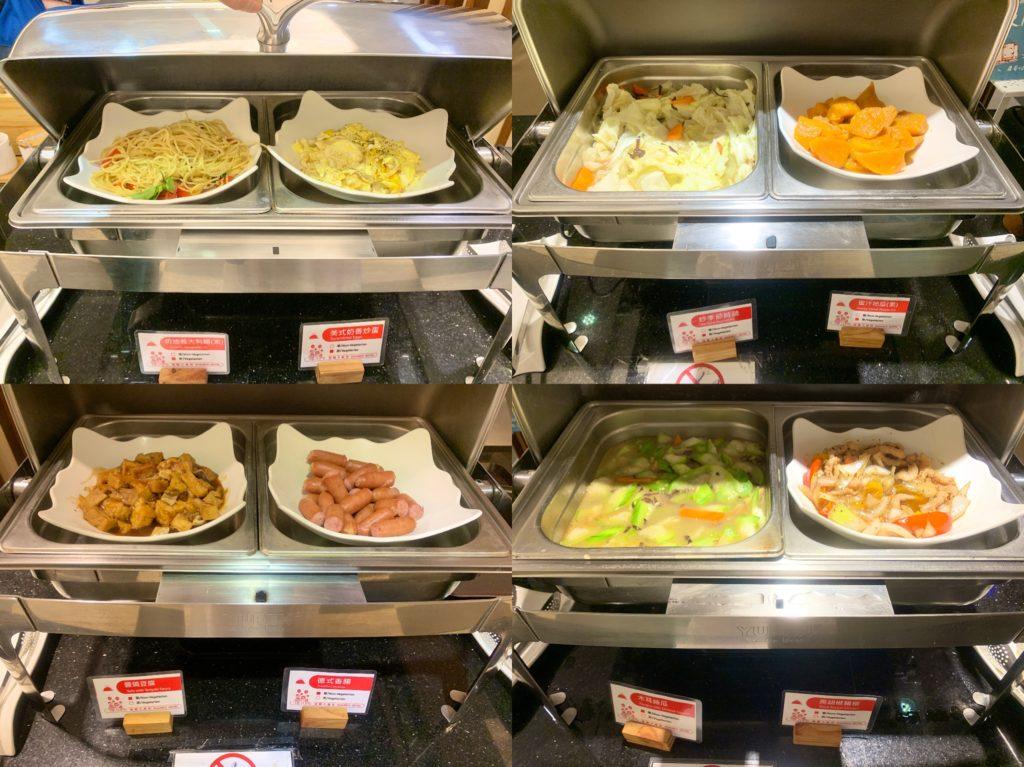 冠閣大飯店早餐菜色