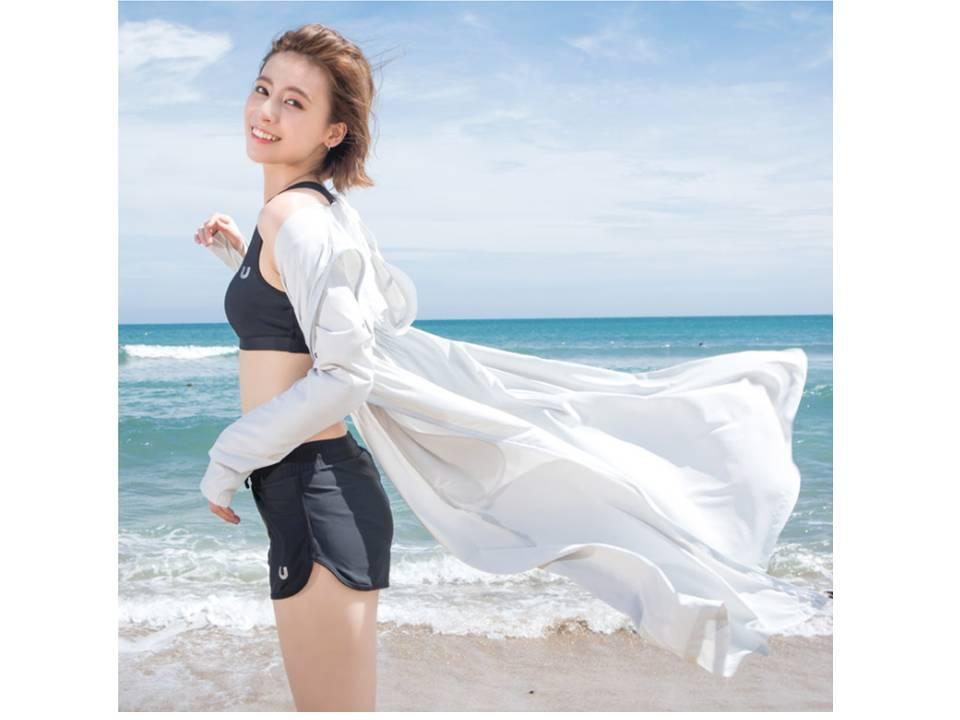 UV100涼感外套model