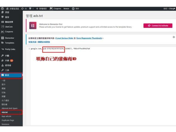 修正 AdSense ads.txt 的問題